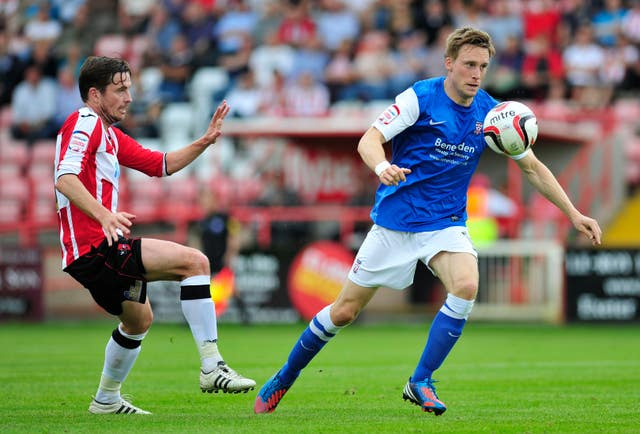 Daniel Parslow (right) in action for York
