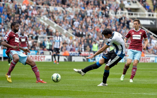 Jonas Gutierrez's goal in his last Newcastle appearance helped the club retain their Premier League place (Owen Humphreys/PA)