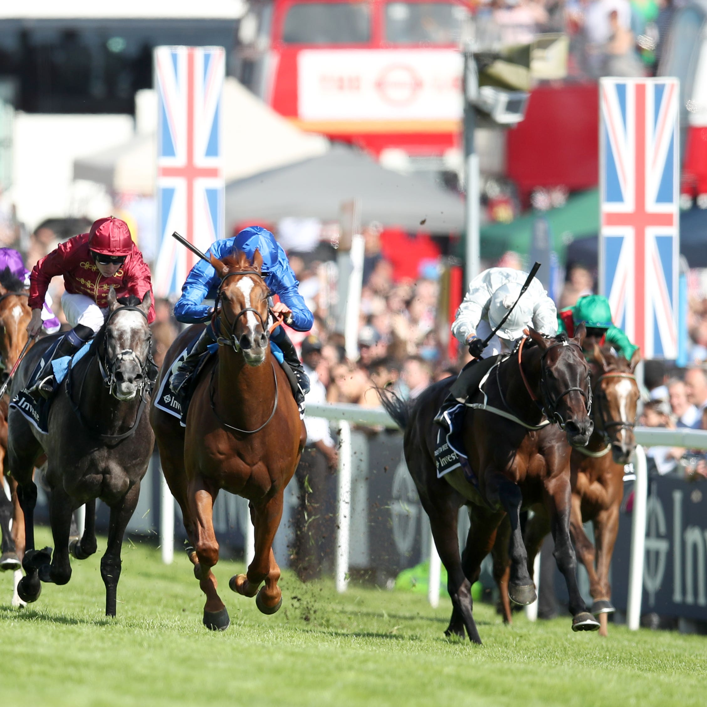 Dee Ex Bee (right) ran a blinder in the Derby