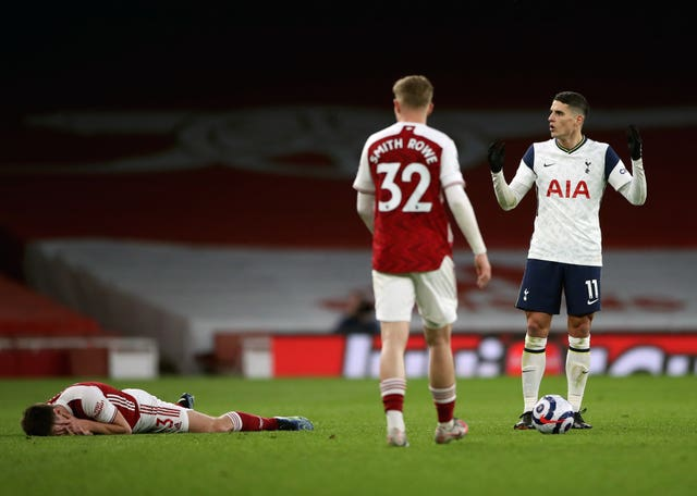Lamela's eventful afternoon ended with his dismissal