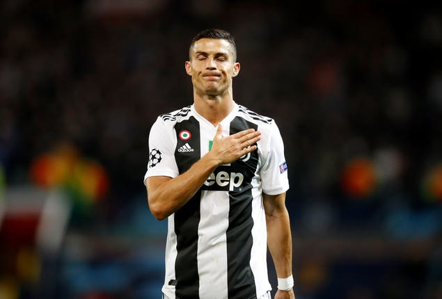 Cristiano Ronaldo's Juventus are currently top of Serie A.