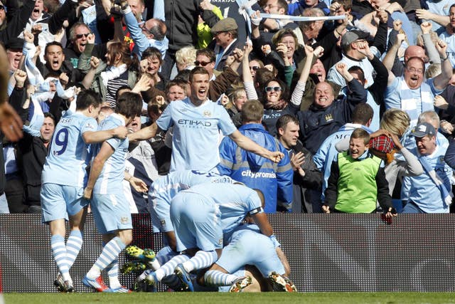 Sergio Aguero's last-gasp goal gave Manchester City their first Premier League title