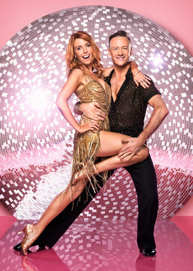 BBC handout photo of Stacey Dooley with her dance partner Kevin Clifton