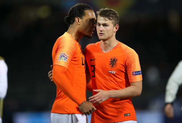 Matthijs de Ligt (right) joined Juventus after departing Dutch side Ajax