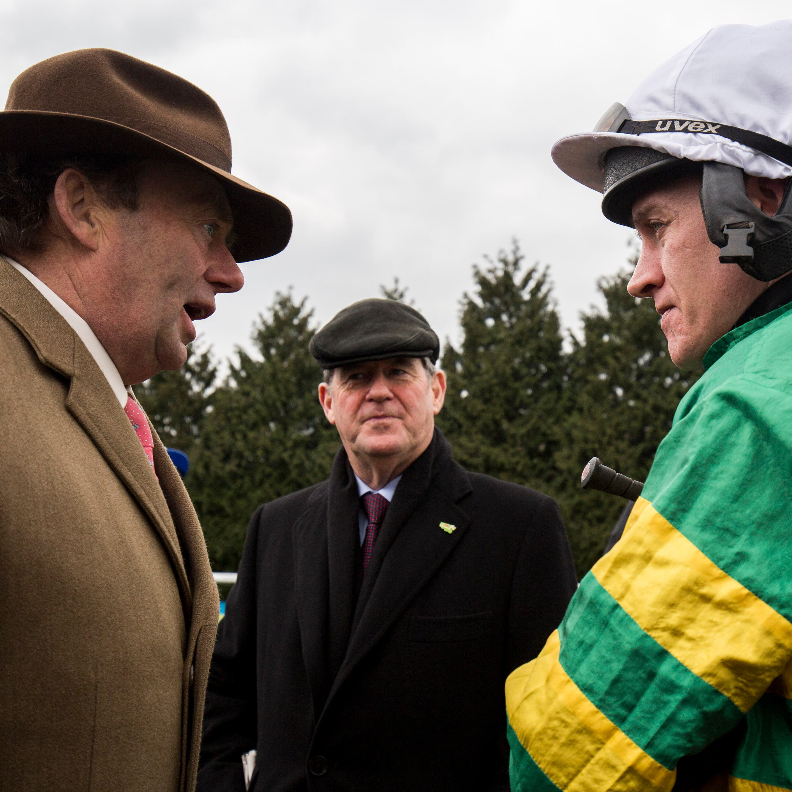 Nicky Henderson, JP McManus and Barry Geraghty are hoping for better luck this week