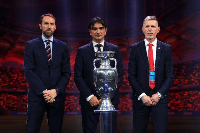 England were drawn to face Croatia, the Czech Republic and a play-off winner in Group D at Euro 2020