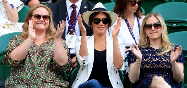 The Duchess of Sussex watches Serena Williams at Wimbledon