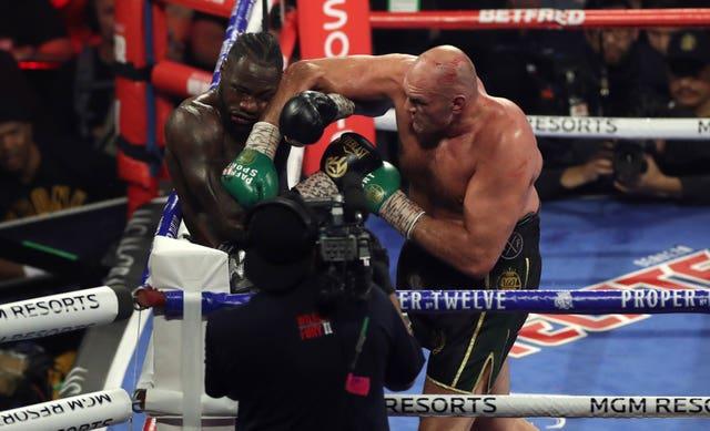 Tyson Fury, right, beat Deontay Wilder in Las Vegas last weekend