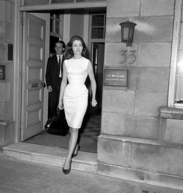 News – Profumo Affair – Christine Keeler's security meeting with Lord Denning – London