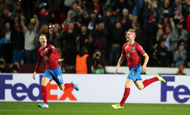 Jakub Brabec (right) celebrates
