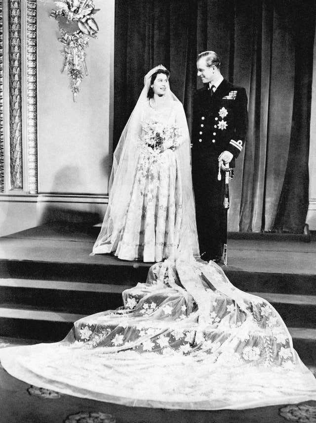 Princess Elizabeth and the Duke of Edinburgh on their wedding day