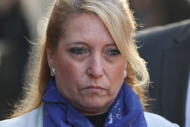 Denise Fergus outside the Old Bailey in London (Jonathan Brady/PA)