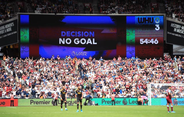 VAR was used for the first time in the Premier League as it disallowed a Raheem Sterling goal at West Ham