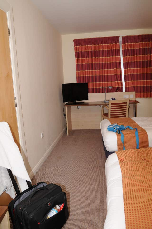 A handout photo of a hotel room which was shown to the jury during Mujahid Arshid's court case (Metropolitan Police/PA)