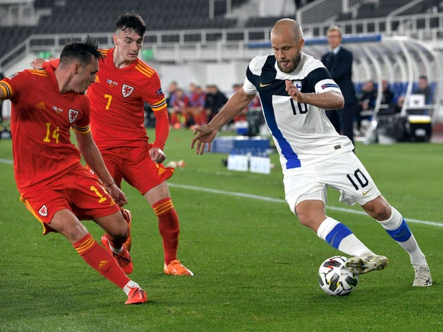 Teemu Pukki (right) scored 10 goals as Finland qualified for the Euro 2020 finals