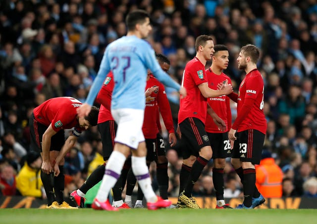 Manchester United have won twice at the Etihad this season