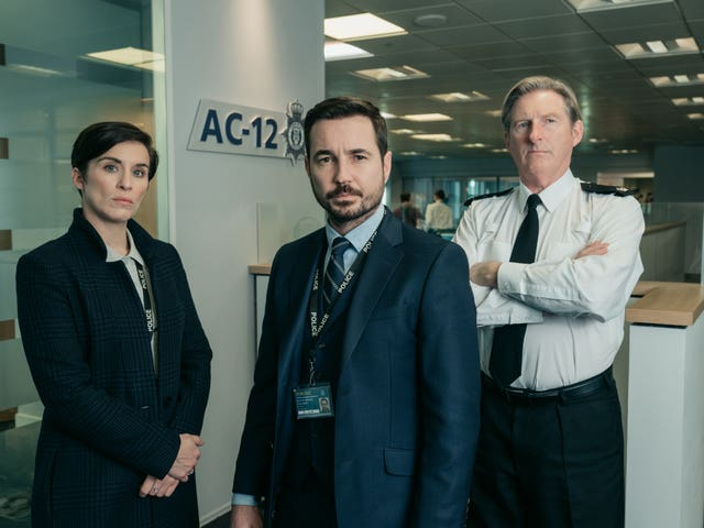 Vicky McClure, Martin Compston and Adrian Dunbar