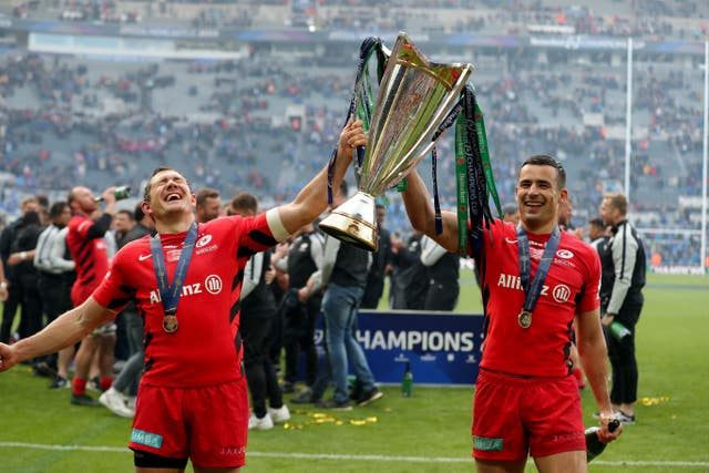 Saracens won the Heineken Champions Cup earlier in the month
