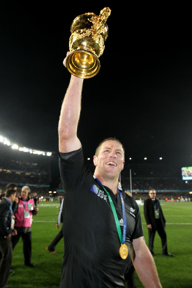 New Zealand's Brad Thorn lifted the Webb Ellis Cup at the age of 36