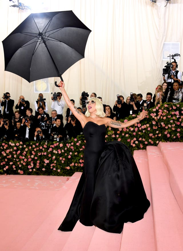 2aa0ce01dd6 ... The Met Gala 2019 One of Lady Gaga s dresses was a black strapless  couture gown