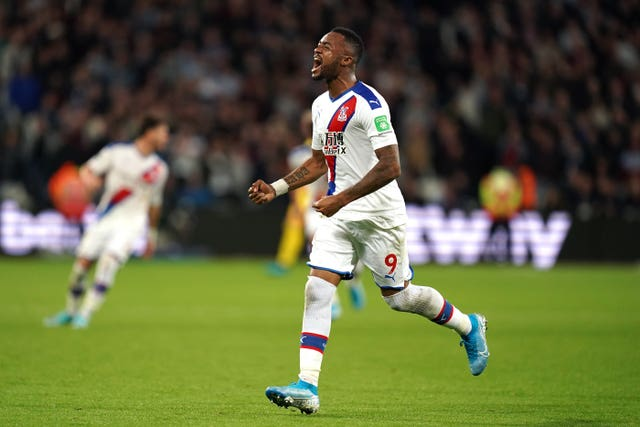 Jordan Ayew was able to celebrate his late winner following a lengthy VAR review