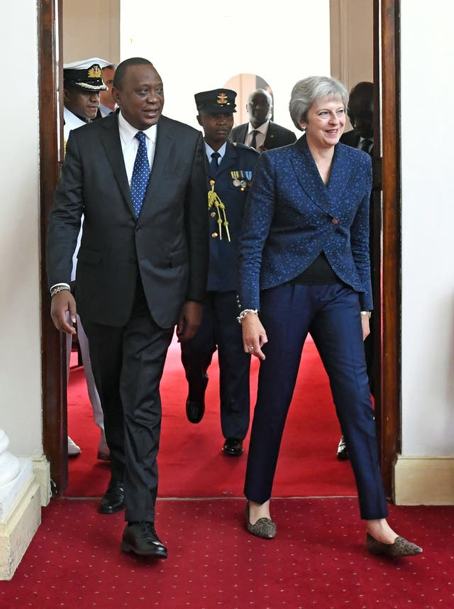 Theresa May trip to Africa