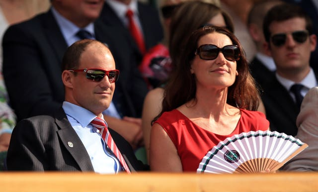 Andrew Strauss with his late wife Ruth