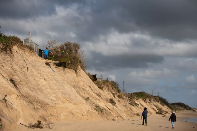 Hemsby cliff erosion – Norfolk