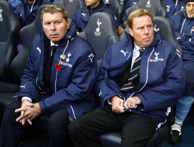 Clive Allen, left, was on the coaching staff at Spurs for a number of years in 2000s