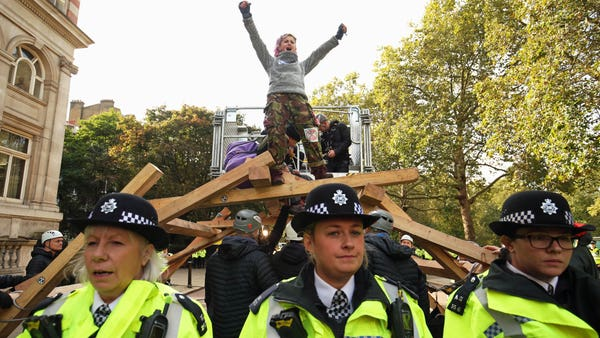 800 arrested in Extinction Rebellion protests ahead of City Airport action