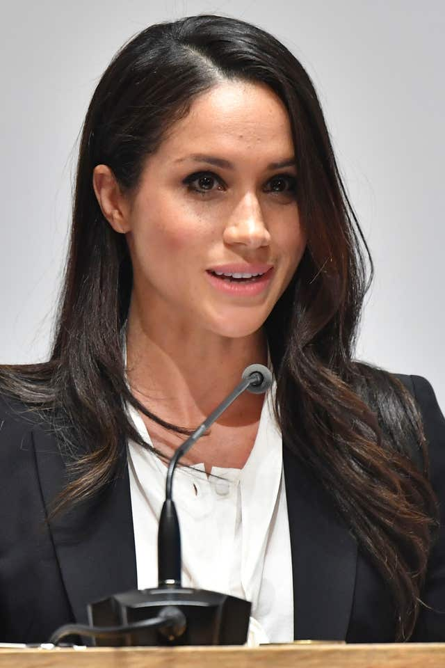 Meghan Markle helps with the Endeavour Fund Awards presentation (Ben Stansall/PA)
