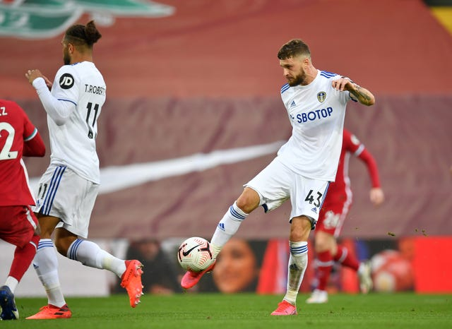 Mateusz Klich lashed home Leeds' third goal in their 4-3 defeat at Anfield on the opening day of the season
