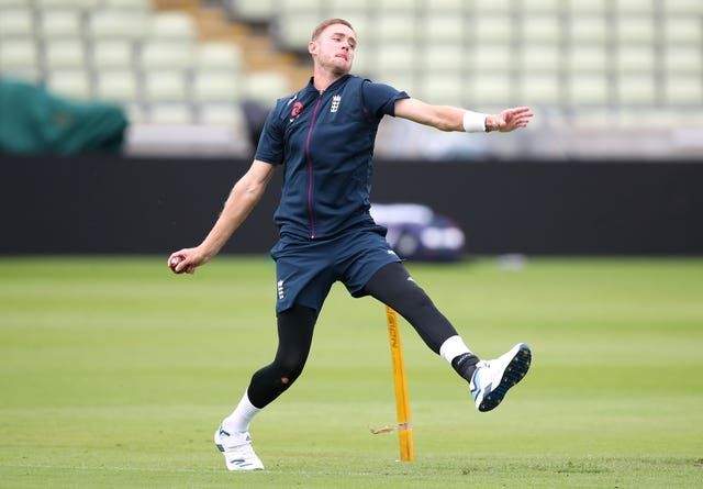 England bowlers like Stuart Broad will be back at training next week.