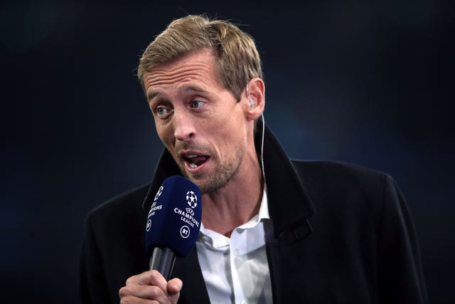 Peter Crouch also appears on the ITV show