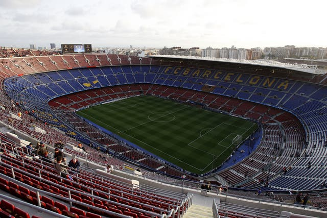 The Nou Camp could soon start hosting games again (Nick Potts/PA)