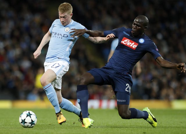 Napoli's Kalidou Koulibaly, right, has plenty of admirers