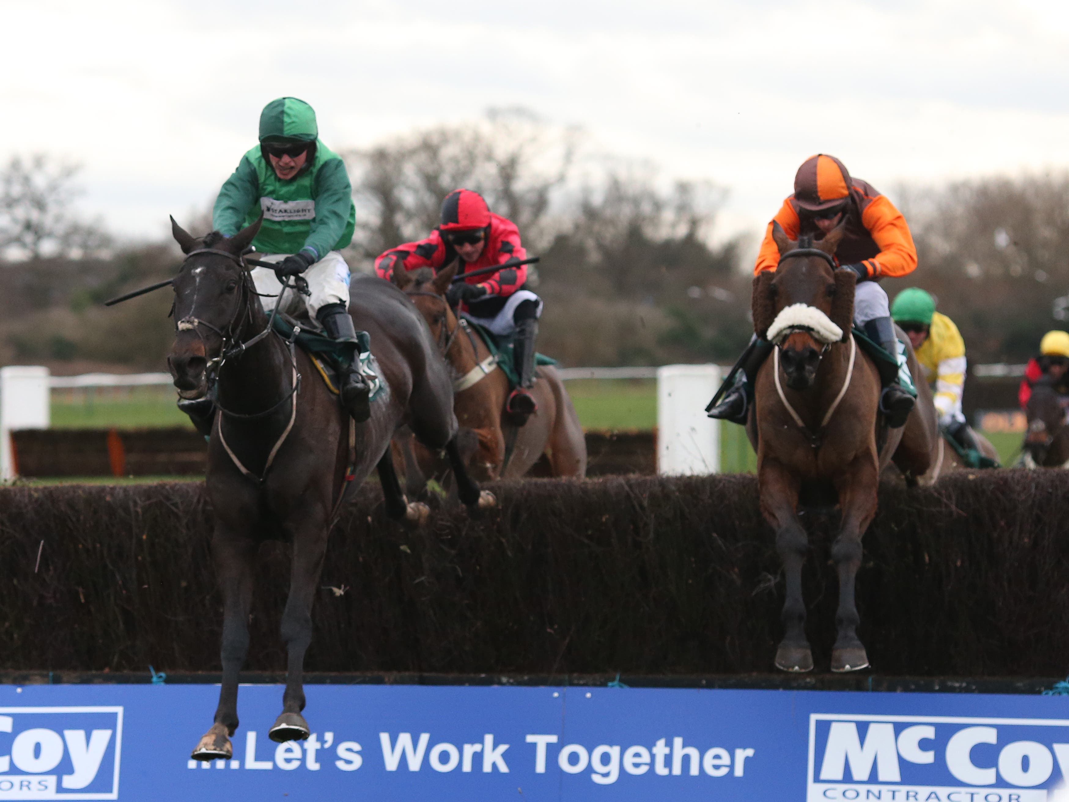 Impulsive Star (right) on his way to winning the Classic Chase at Warwick (Julian Herbert/PA)
