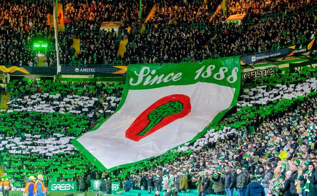 Celtic fans will watch on from afar initially