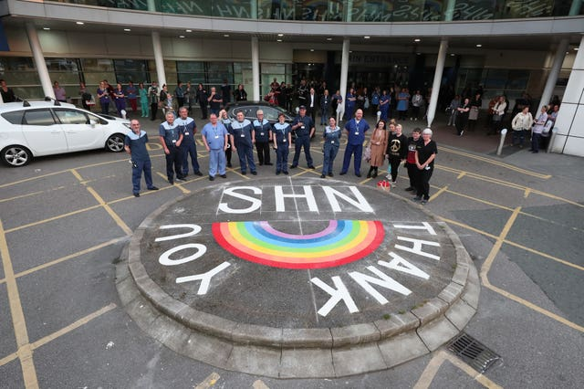 NHS workers at Royal Liverpool University Hospital