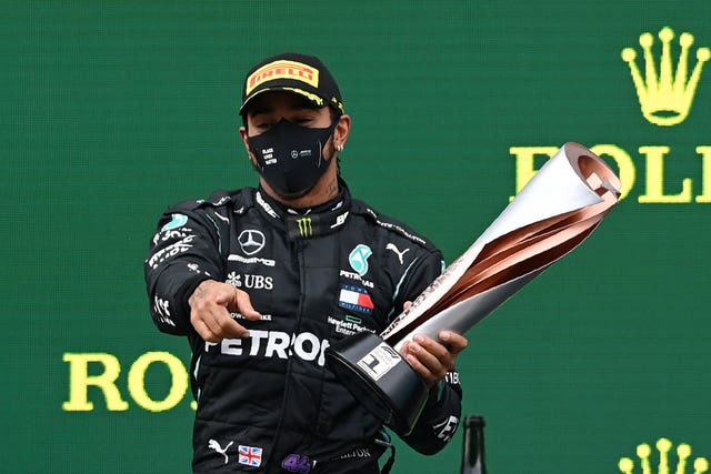Hamilton became a seven-time world champion on Sunday