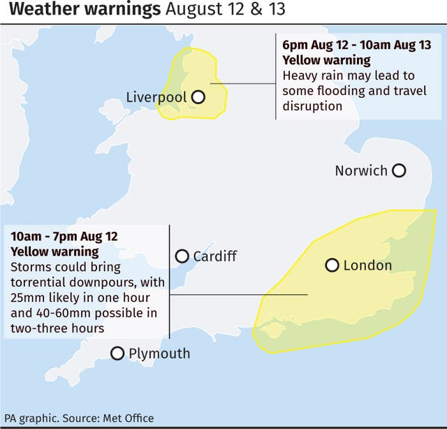 Britain braced for 'fresher feel' as week of wind and rain forecast