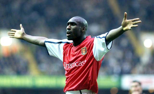 Sol Campbell made the short journey across north London to join Wenger on a free transfer from Tottenham.