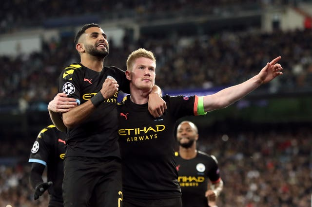 Kevin De Bruyne scored as Manchester City won at Real Madrid before lockdown.