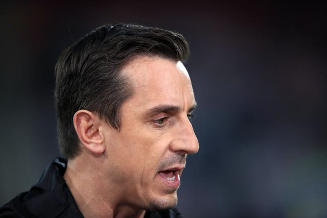 Gary Neville was firm in his opposition to the same of Wembley Stadium
