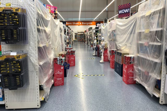 Cordoned off supermarket aisles