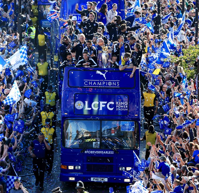 Demarai Gray played a part in Leicester's shock Premier League title success in 2016