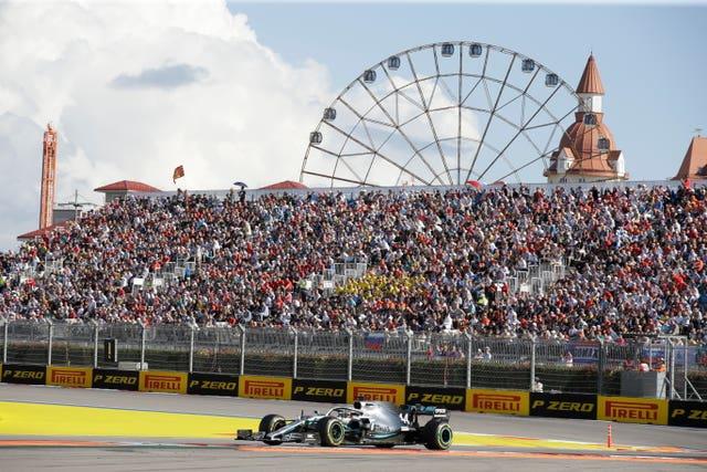 Mercedes driver Lewis Hamilton won the Russian Grand Prix