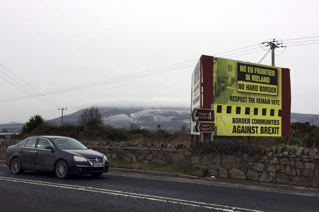 The Irish border near Newry, Co Down. (David Young/PA)