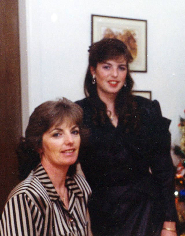 Marie McCourt (left) with her daughter Helen