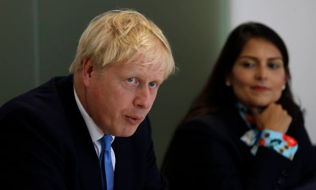 Boris Johnson, Priti Patel